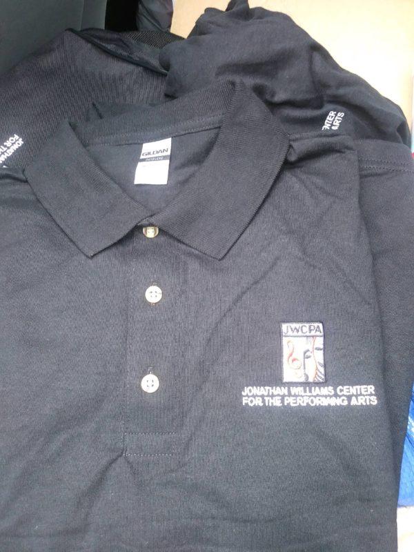 Black Embroidered JWCPA Tennis Shirt