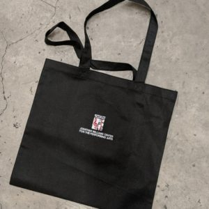 Black Embroidered Lightweight JWCPA Bag